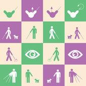 Blind man symbol — Stock Vector