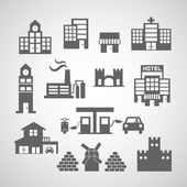 Buildings icon — Stock Vector