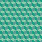 Green hexagon — Vector de stock