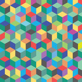 Color hexagon — Stok Vektör
