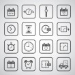 Clocks icons set — Stock Vector