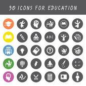 Onderwijs icons set — Stockvector