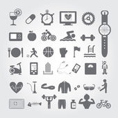 Sports and healthy icons — Stock Vector