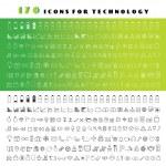 Постер, плакат: Technology icons set