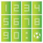 Score board number — Stock Vector