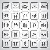Friendship symbol set  — Stock Vector