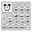 Clocks icons set — Vector de stock