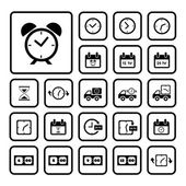 Klokken icons set — Stockvector
