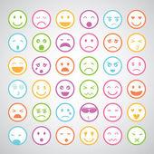 表情图标集 — 图库矢量图片