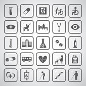 Hospital icons set  — Stock Vector