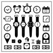 Watch and time icons set  — Stock Vector #49648527