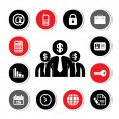 Business icons set — Stock Vector