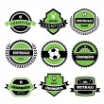 Football champion labels — Stock Vector #49649479