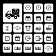 Delivery icons set — Stock Vector #49649727