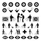 Blind man symbol — Stock Vector