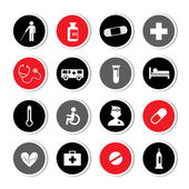 Hospital icons set  — Vector de stock