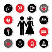 установлены свадебные символы — Cтоковый вектор