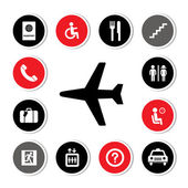 Airport icons set — Vetorial Stock
