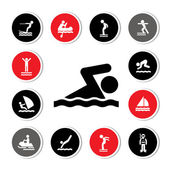 Water sport icon — Stockvector