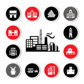 Industrial factory and buildings — Stock Vector