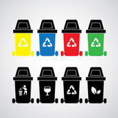 Recycle bins — Stock Vector