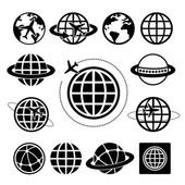 Globe  icons set — Stock Vector