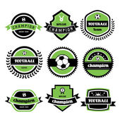 Football champion  labels — Stock Vector