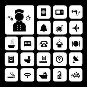 Hotel and travel icon set — Stock Vector