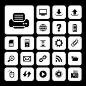 Printer and technology icon set — Stock Vector