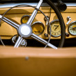 Retro interior vintage car — Stock Photo