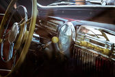 Retro interior vintage car — Photo
