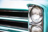 Vintage car headlight — Stock Photo