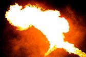 Fire and smoke — Stock Photo