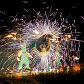 Fire show — Stock Photo