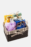 Decorative textile sachet pouches — Stockfoto