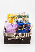 Decorative textile sachet pouches — Foto Stock