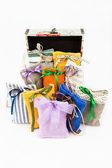 Textile sachet pouches — Stock Photo