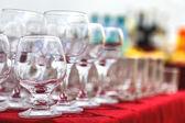 Empty wine glasses — Stock Photo