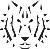 Ilustración de tigre — Vector de stock