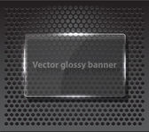 Banner with black and silver pattern — Stock Vector