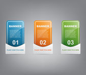 Colorful banners with reflex — Stock Vector