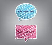 Speech bubbles stickers — Stock Vector
