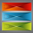 Three  prism banners — Stock Vector