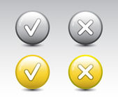 Set of ok and cancel buttons — Stock Vector
