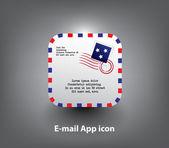 Ikona aplikacji list — Wektor stockowy