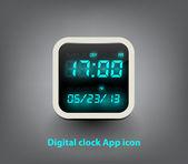 Clock App icon — Stock Vector