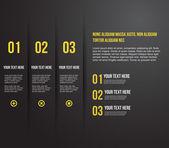 Modello di design moderno per l'infografica — Vettoriale Stock