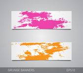 Set of two colorful vector paper banners — Stock Vector