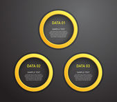 Set of plastic ring banners over dark background — Stok Vektör