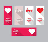 Set of banners for Valentines Day — Stock Vector